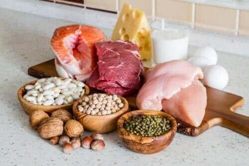 Yağsız protein içeren gıdalar.