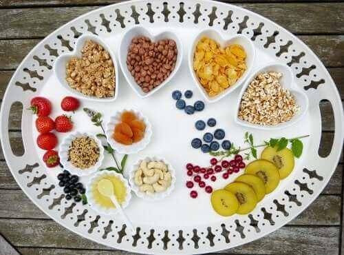 Karbonhidrat içeren besin maddeleri.