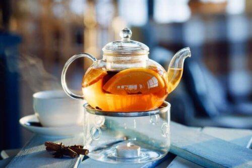 Portakal kabuğu çayı.