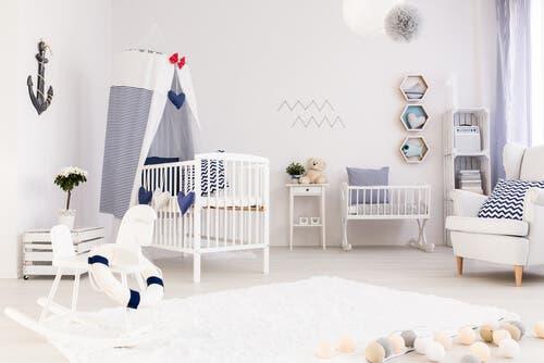 Bir bebek odası.