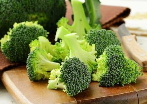 Doğranmış brokoli.