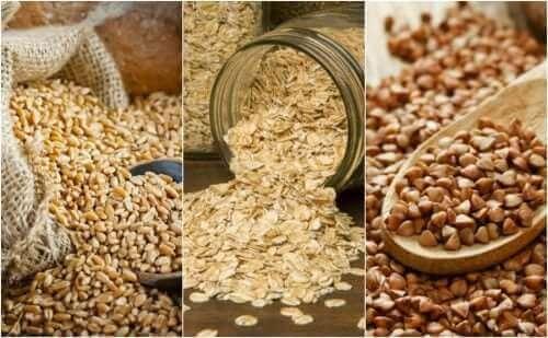 Üç farklı tahıl türü.