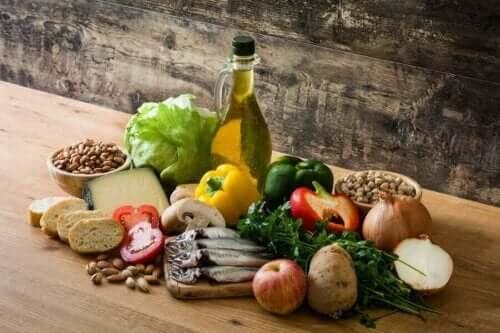 Akdeniz diyetinde yer alan temel besinler
