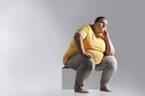 Obez bir kadın.