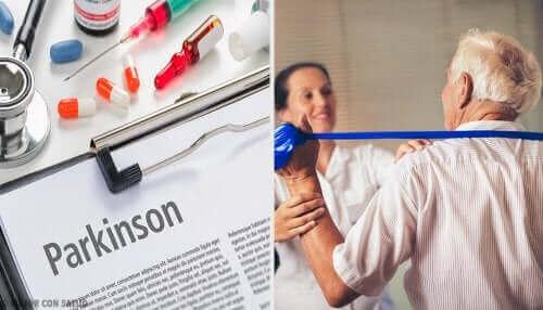Parkinson hastalığı için tedavi alan bir hasta.