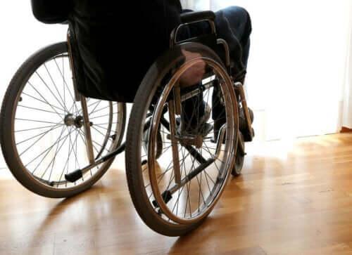 tekerlekli sandalyede oturan bir kişi