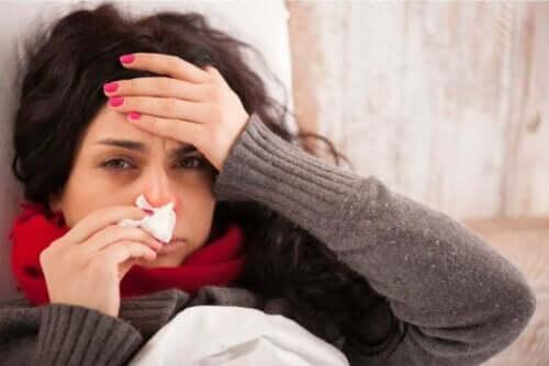burun peçete grip kadın