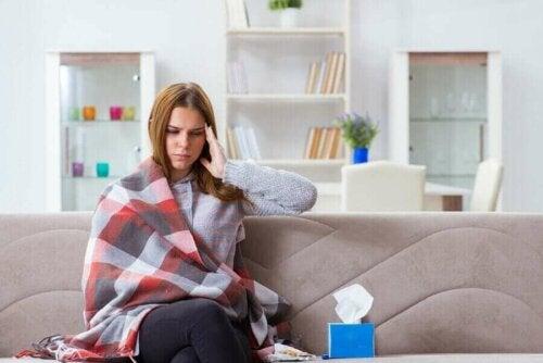 hasta kadın battaniye salon