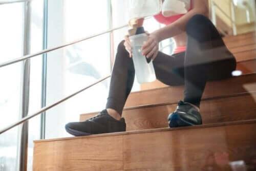 merdiven sporcu içecek