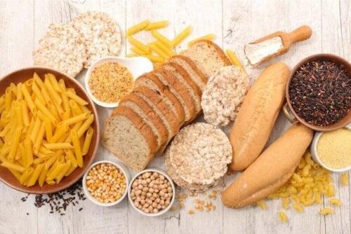ekmek ve diğer karbonhidratlı gıdalar