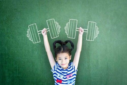 ağırlık resmi tahta çocuk