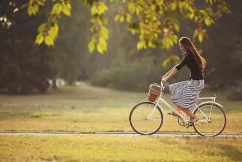 İnce bacaklar için bisiklet sürme