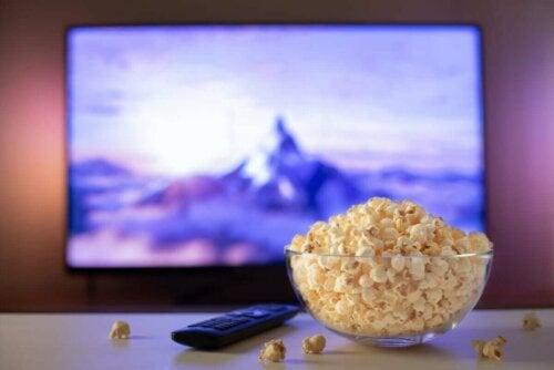 kase lezzetli patlamış mısır ekran kumanda