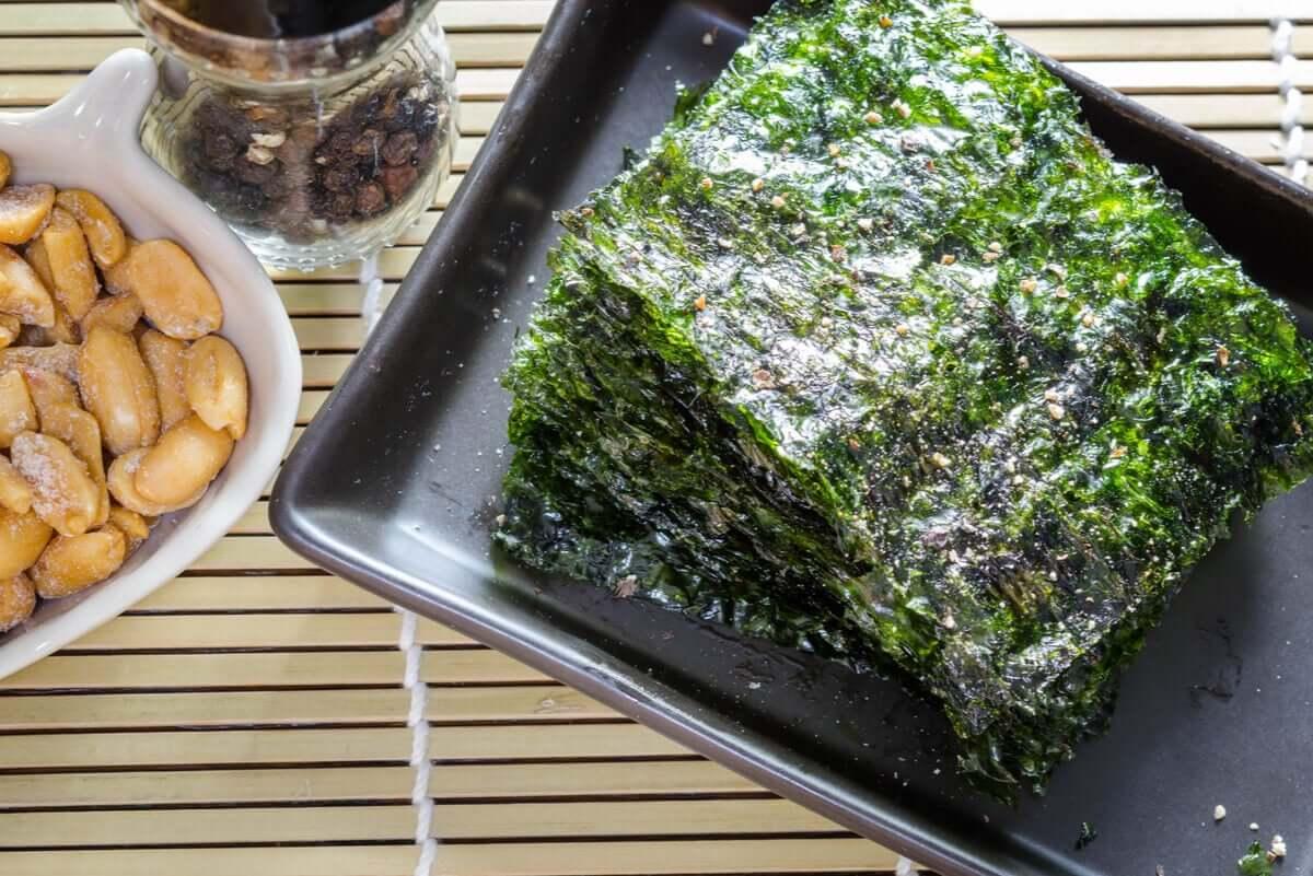 deniz yosunu tabağı
