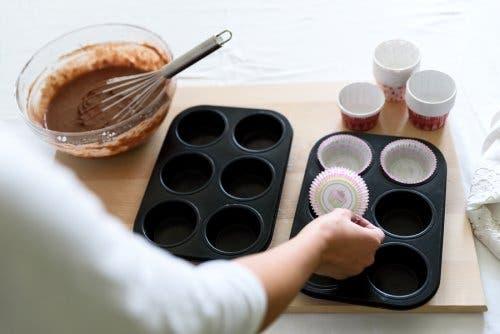muffin kalıpları çikolata