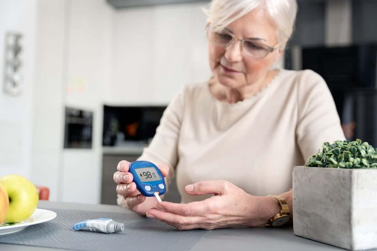diyabet hastası kadın