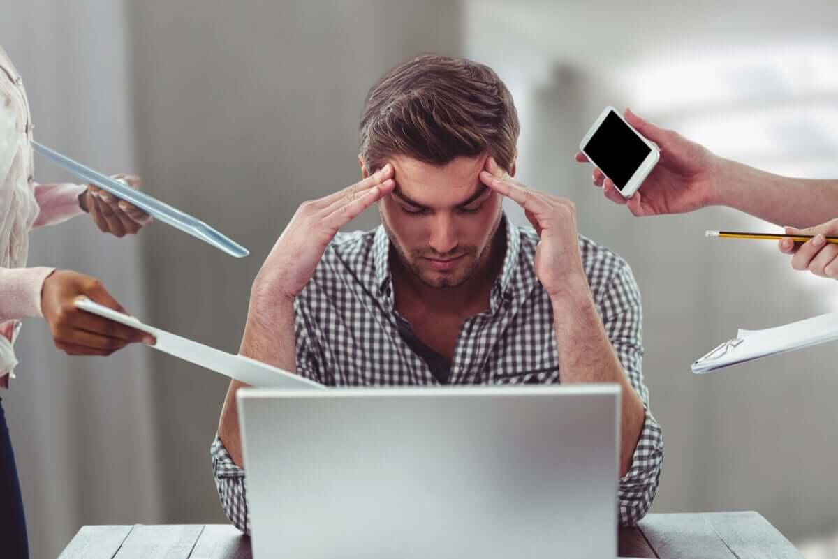 iş stresi ve bir adam