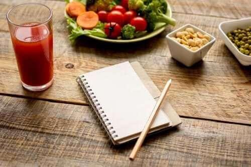 not defteri sağlıklı besinler