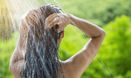 saçlar su duş