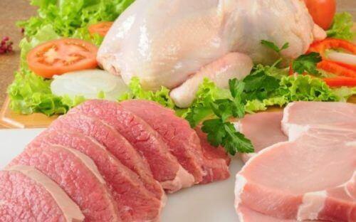 Farklı yağsız et türleri.