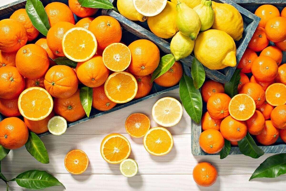 portakal ve limon kasaları