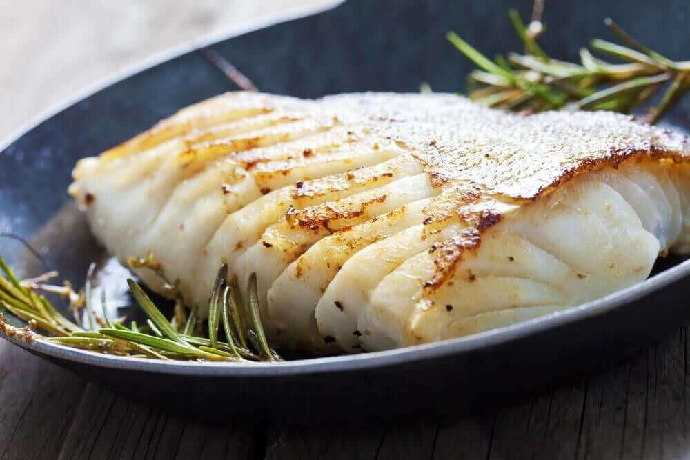 bir tabak balık