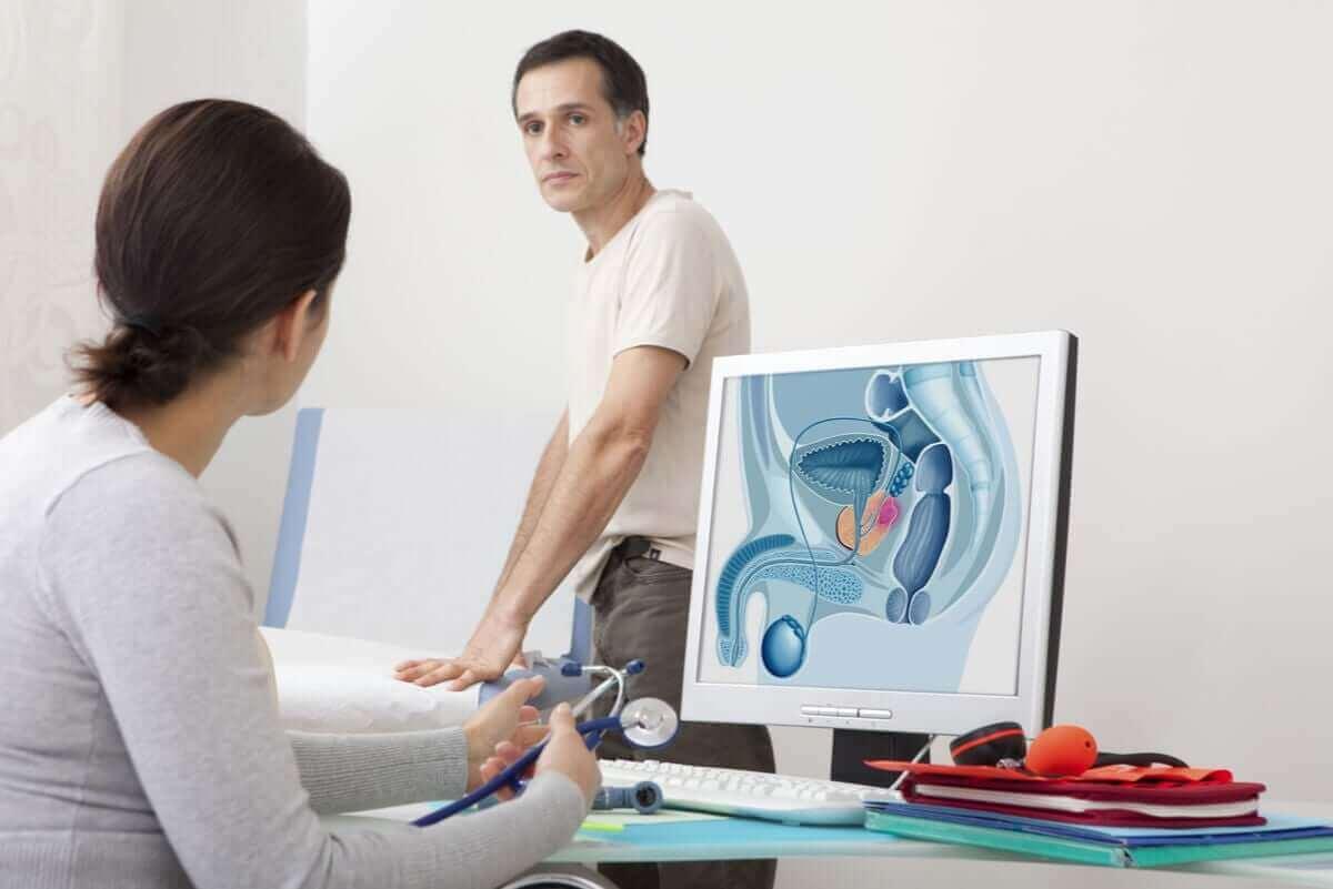 kadın ürolog ve erkek hastası