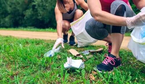 çöp toplayan sporcular