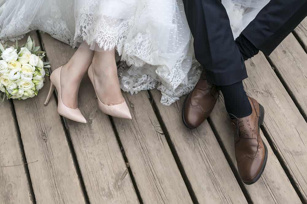 gelin ve damat ayakları