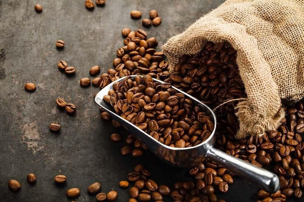 bir çuval kahve çekirdeği